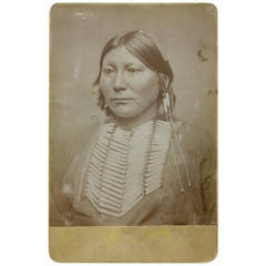 White Horse, Kiowa Chief, Original Cabinet Card, 1869