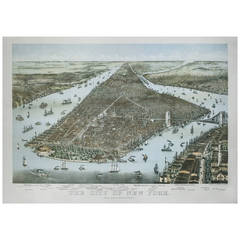 City of New York Chromolithograph, 1892