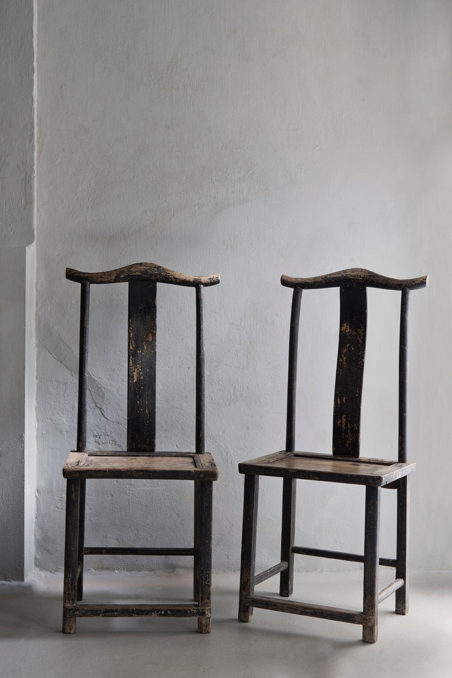 Pair of old chinese oak chairs at 1stdibs for Old asian furniture