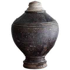 Lovely Antique Khmer Jar with Lid