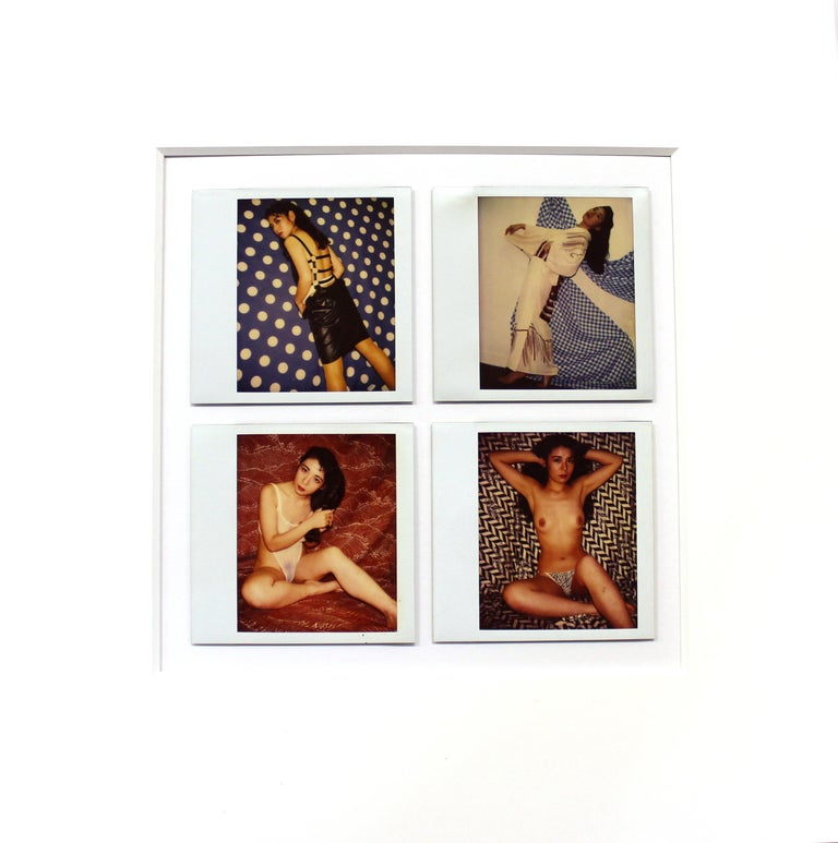 Japanese 1980s Postmodern vernacular erotic and nude Polaroids, unsigned, by an unknown photographer, in the style of Nobuyoshi Araki. The Polaroids are grouped in sets of four on unframed matte boards. There is a total of 22 sets, each at an