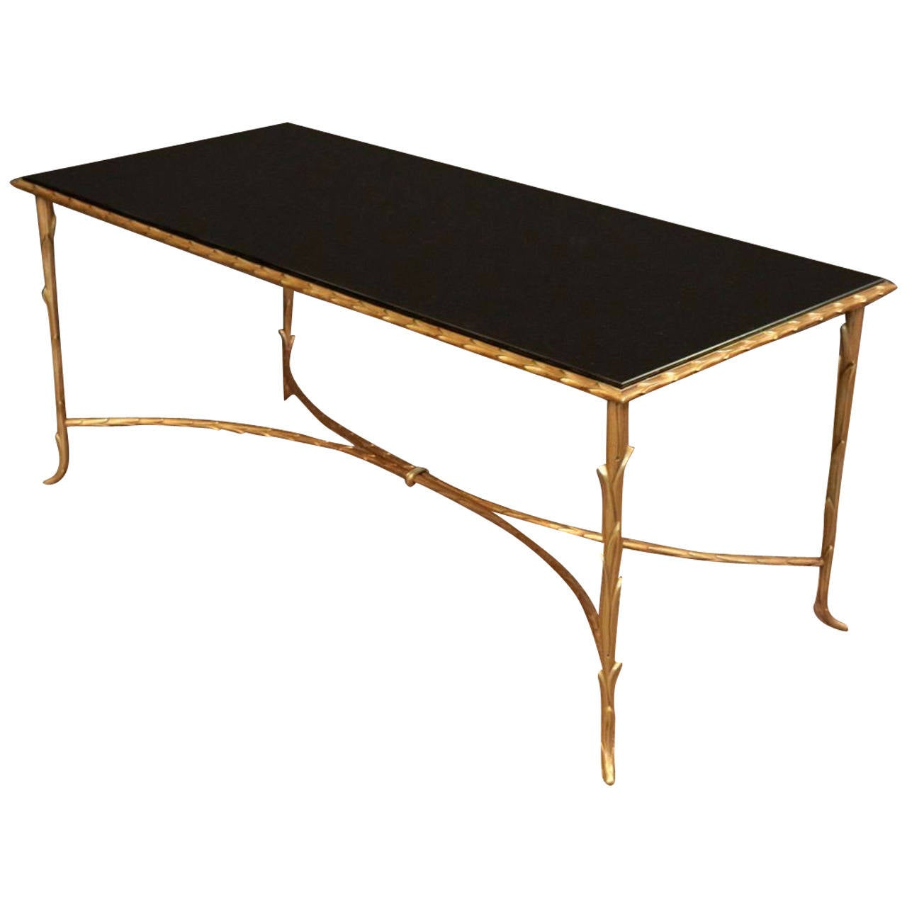 1950s bronze coffee table by bagues at 1stdibs Bronze coffee tables
