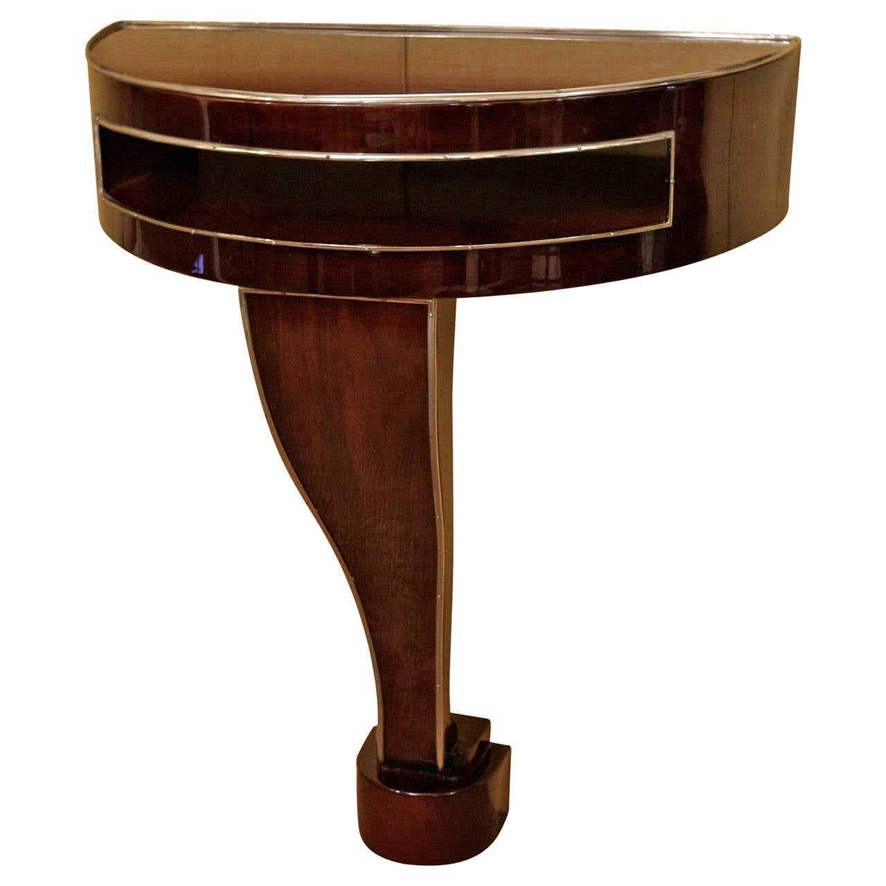art deco rosewood console table for sale at 1stdibs. Black Bedroom Furniture Sets. Home Design Ideas