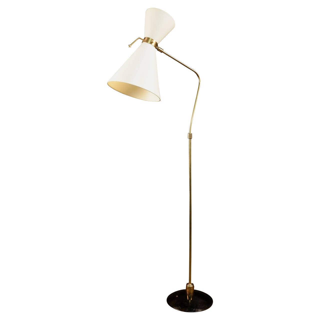1950s floor lamp by maison lunel at 1stdibs for 1950s floor lamps