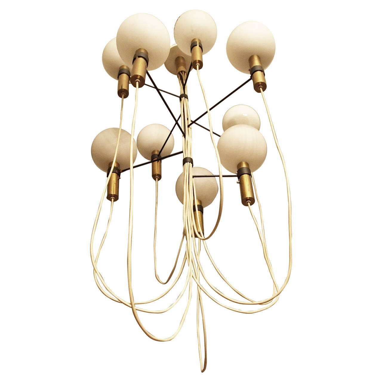 Chandelier Attributed to Gino Sarfatti, 1950s-1960s For Sale