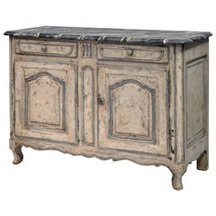 19th Century Painted French Louis XV Style Buffet