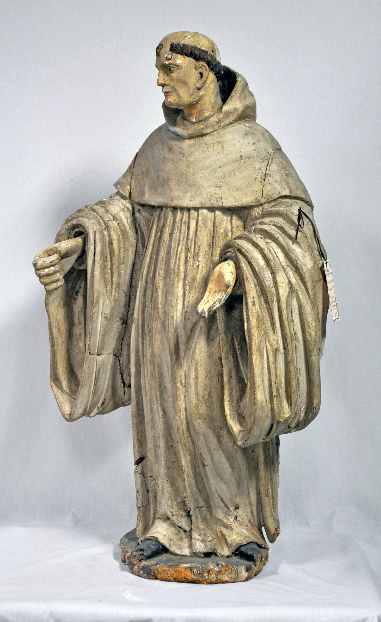 18th Century Wooden Carving Of Spanish Priest At 1stdibs