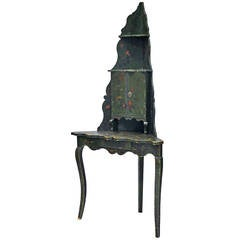 Early 20th Century French Encoigneure / Corner Etagere, Painted