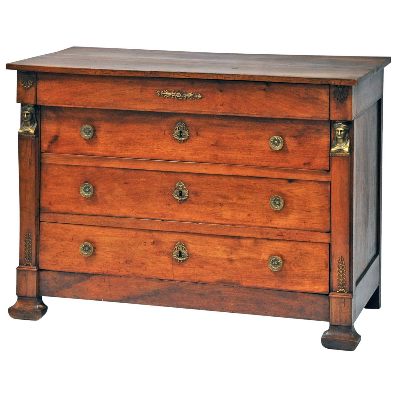 cabinet magazine early 19th century empire commode in walnut at 1stdibs 12962