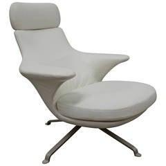 "B&B Italia ""Radar"" Armchair in White ""Kappa"" Leather by James Irvine"