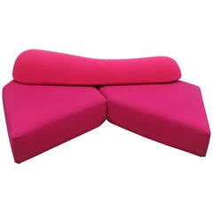 """Edra """"On The Rocks"""" Sectional Sofa in Pink and Red Kvadrat by Francesco Binafare"""