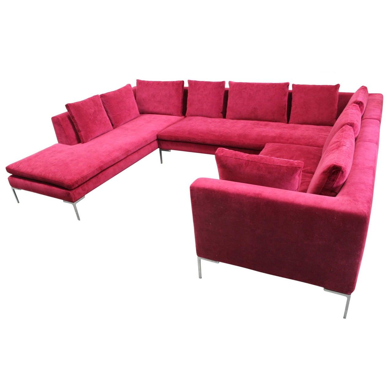 B Amp B Italia Charles U And L Shape Three Section Sofa In