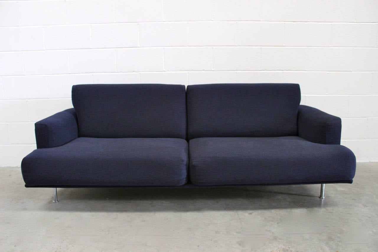 """Cassina """"253 Nest"""" Two Sofa And Ottoman Suite In Navy Blue"""