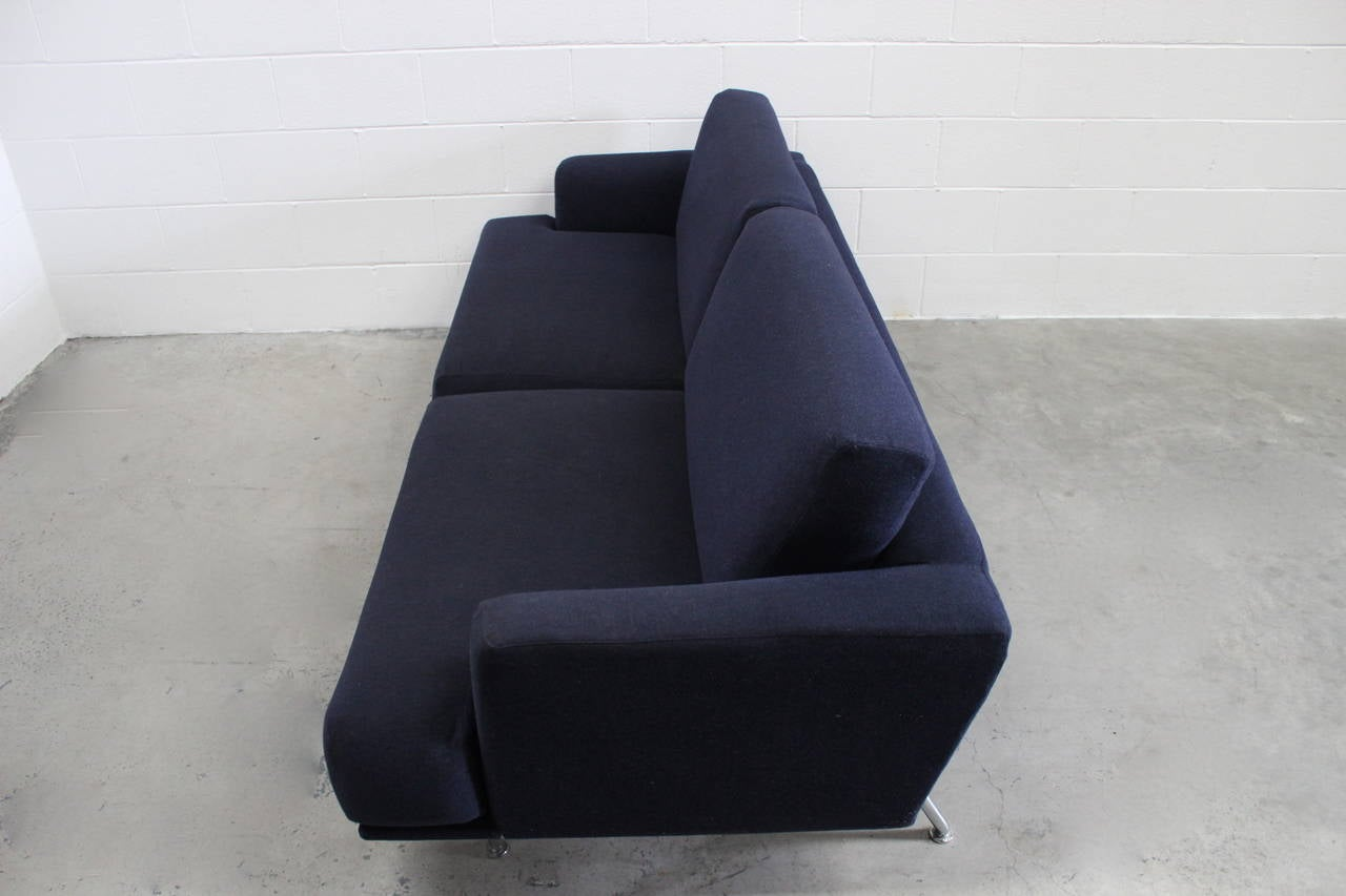 Cassina 253 nest two sofa and ottoman suite in navy blue for Sofa 8 cassina