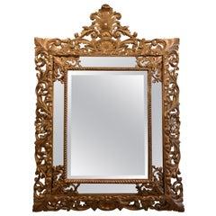Gilded Hand Carved Marginal Mirror