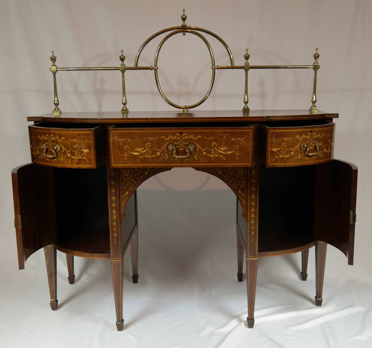 Highly Important Edwards and Roberts Bowfront Sideboard