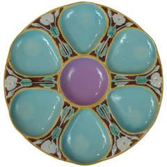 Rare Joseph Holdcroft Majolica Oyster Plate