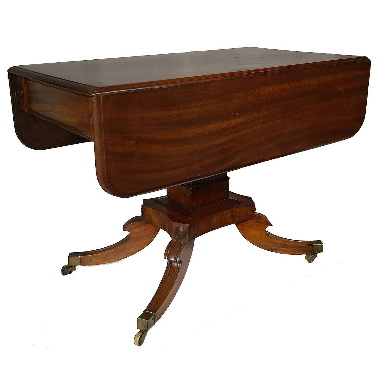 Drop-Leaf Pedestal Table