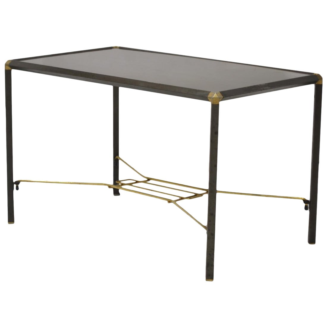 Italian wood and steel coffee table for sale at 1stdibs - Archives departementales 33 tables decennales ...