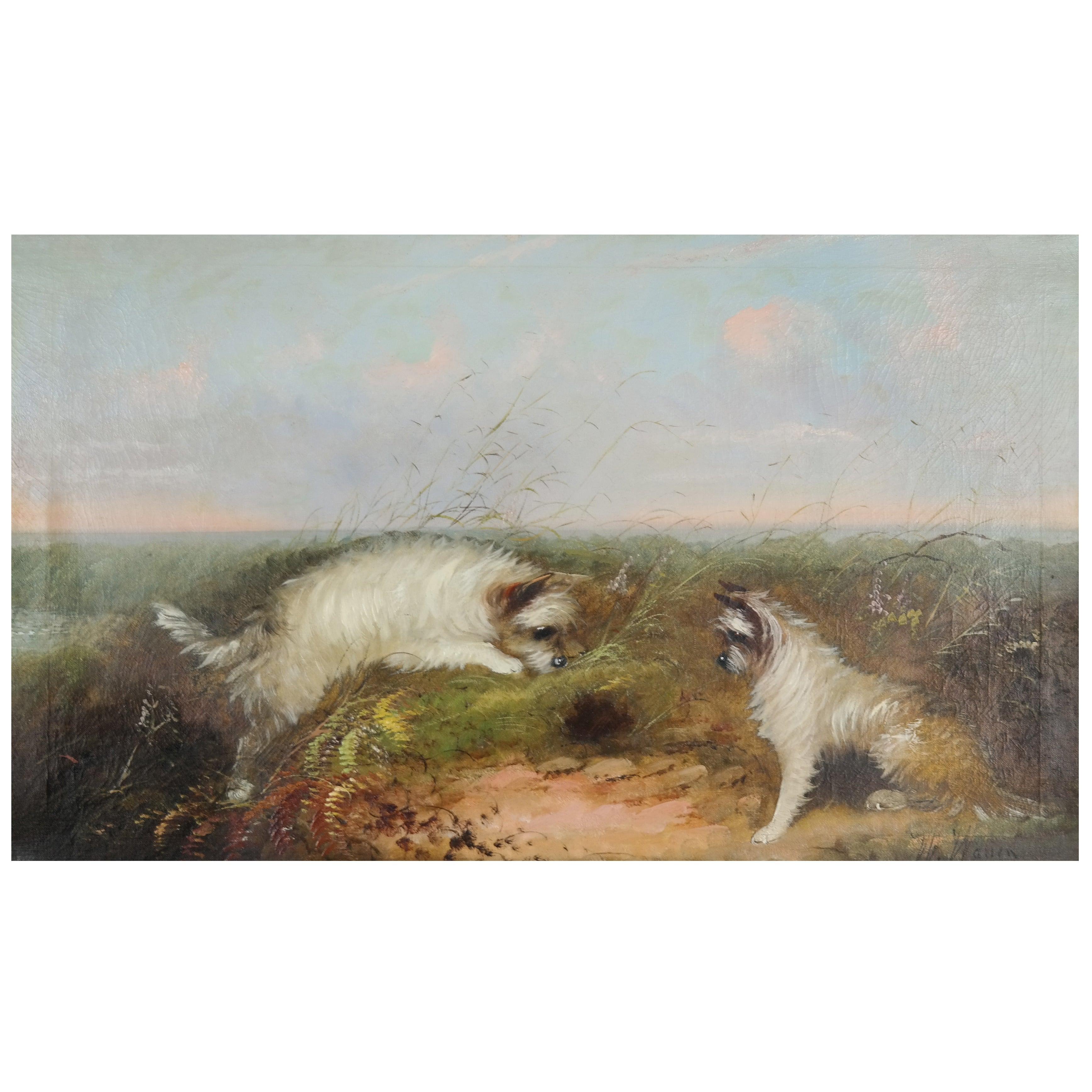 Late 19th Century Oil on Canvas by W. Warren
