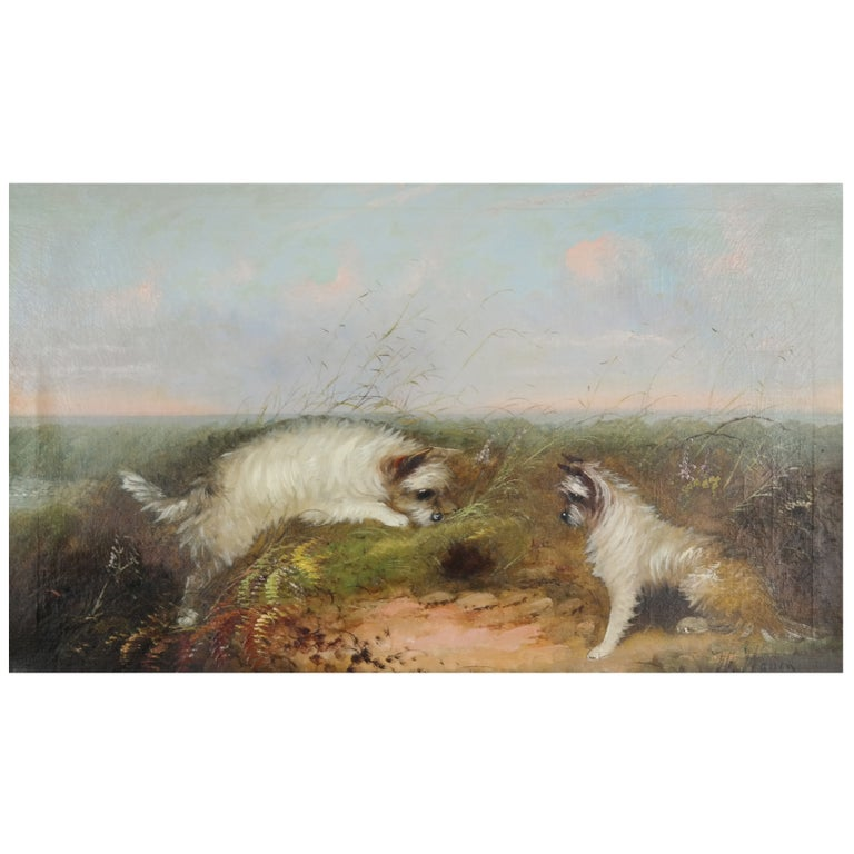 Late 19th Century Oil on Canvas by W. Warren For Sale