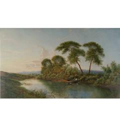 River Lodden Berkshire by Edward Boddington