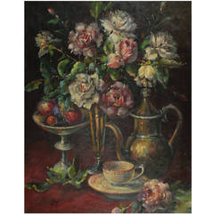 Late 19th c. French Still Life, Signed C. Maniere