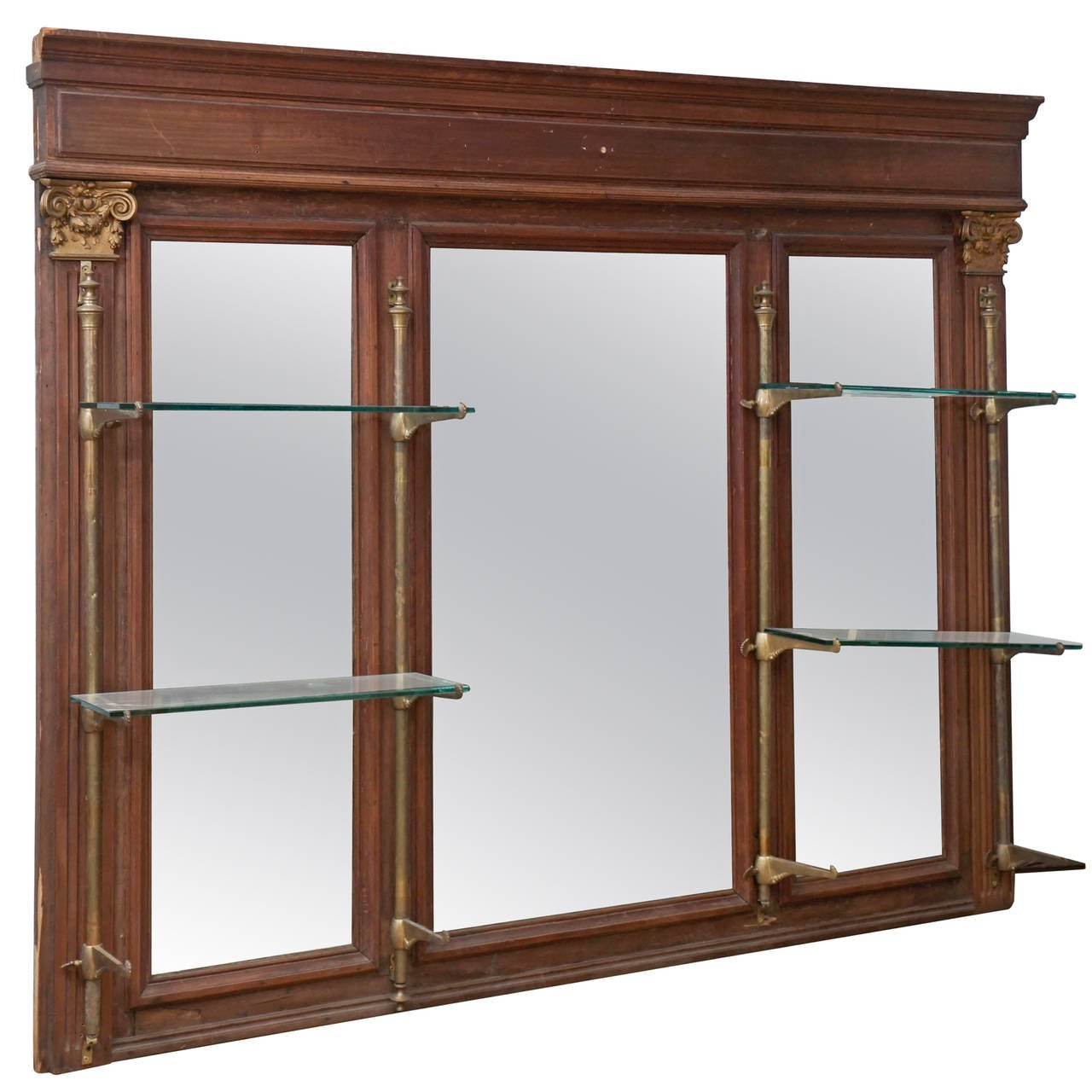 French Back Bar Mirror At 1stdibs