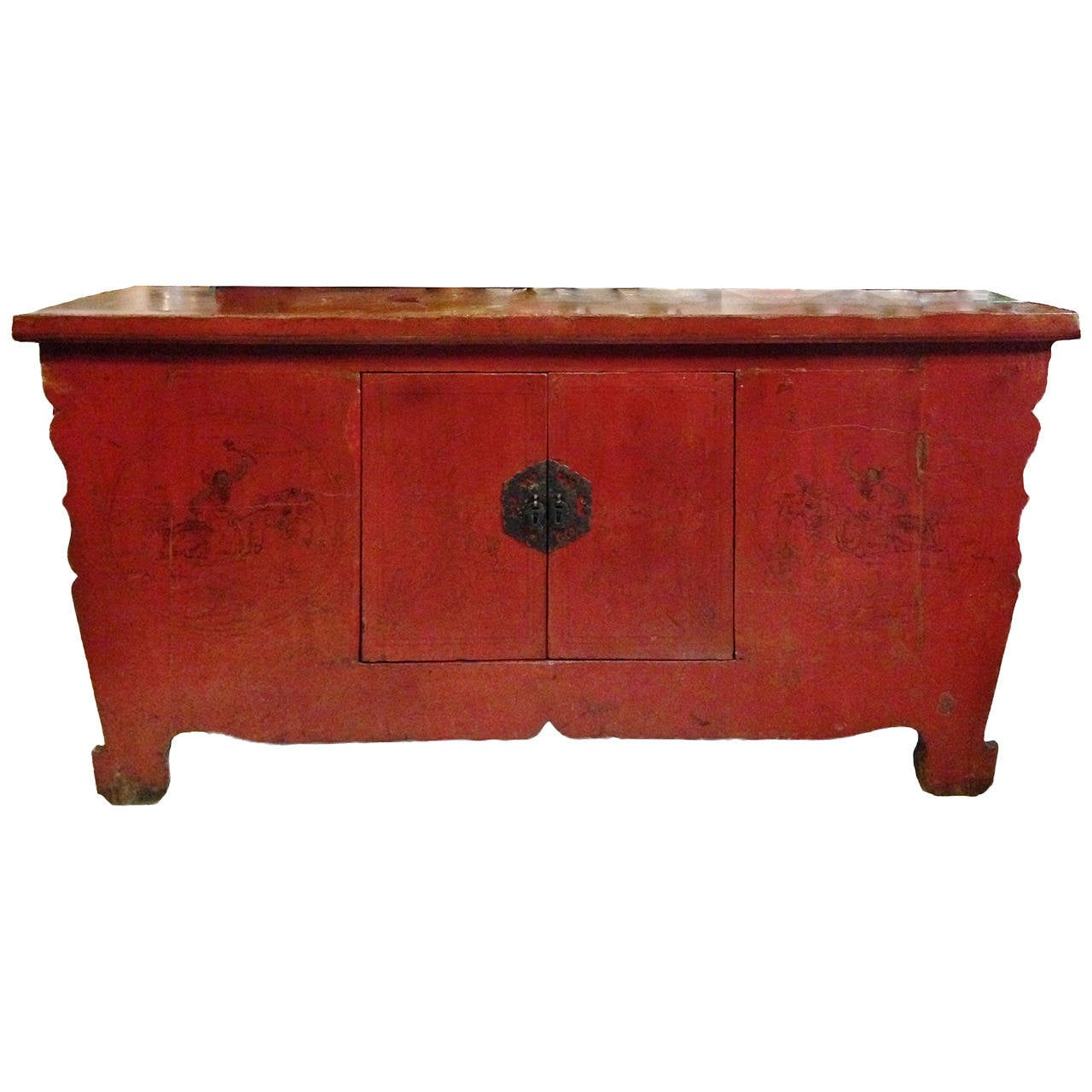 Chinese antique cinnabar chest at 1stdibs for Asian furniture
