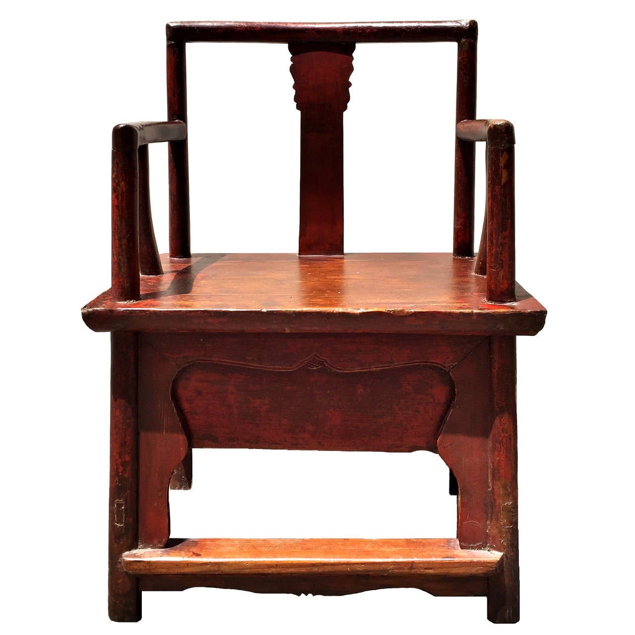 Red chinese antique armchair 19th century at 1stdibs for Red chinese furniture