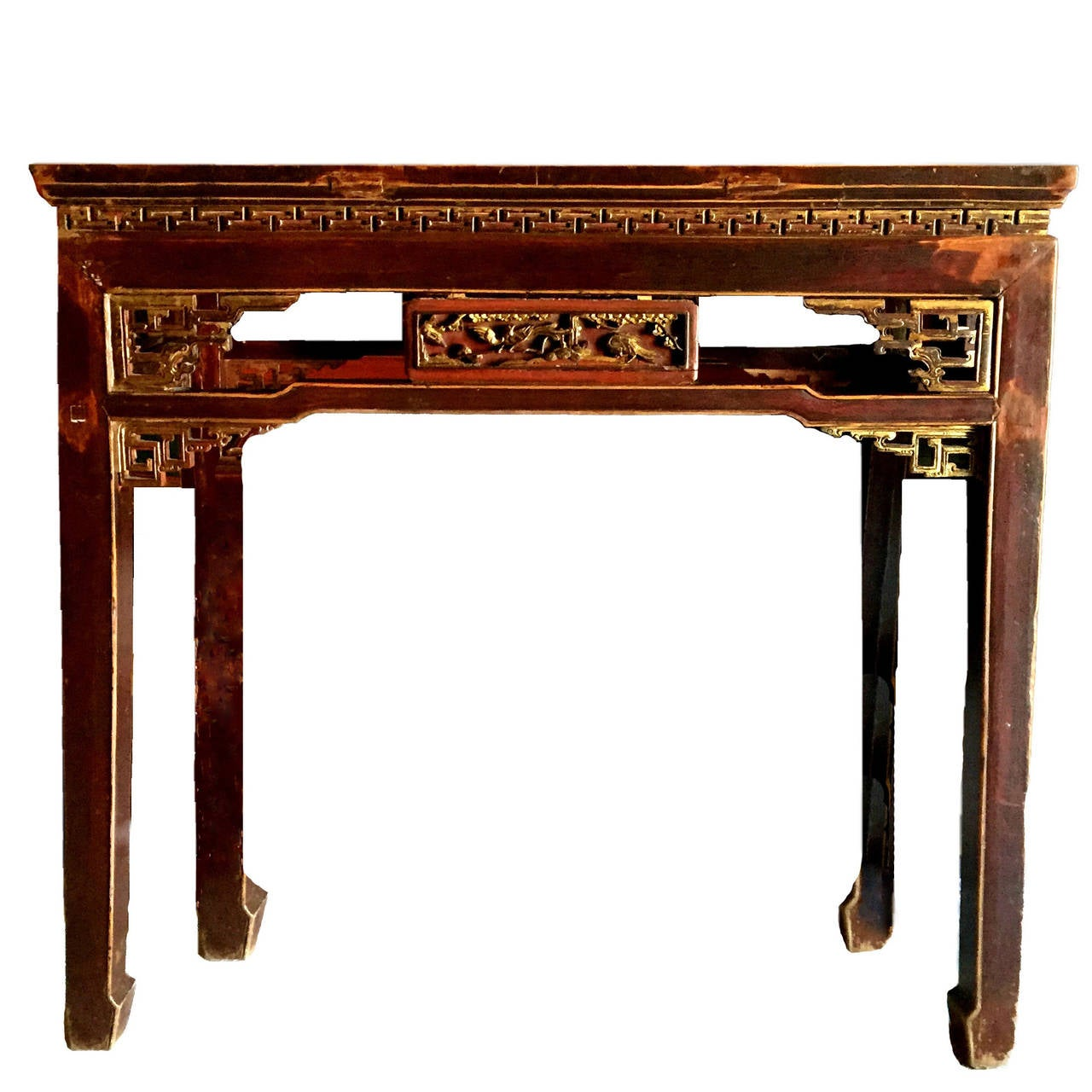 Chinese antique carved side table at 1stdibs for Oriental wood carved furniture