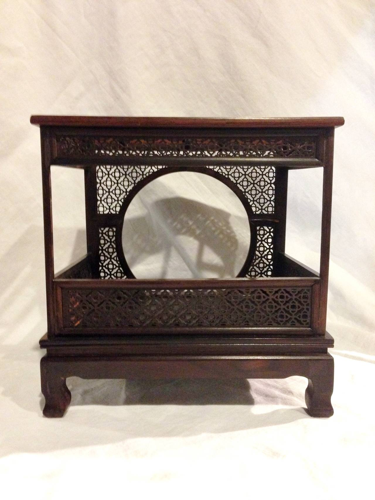 Rosewood chinese moon bed model or miniature image 4 for Chinese art furniture