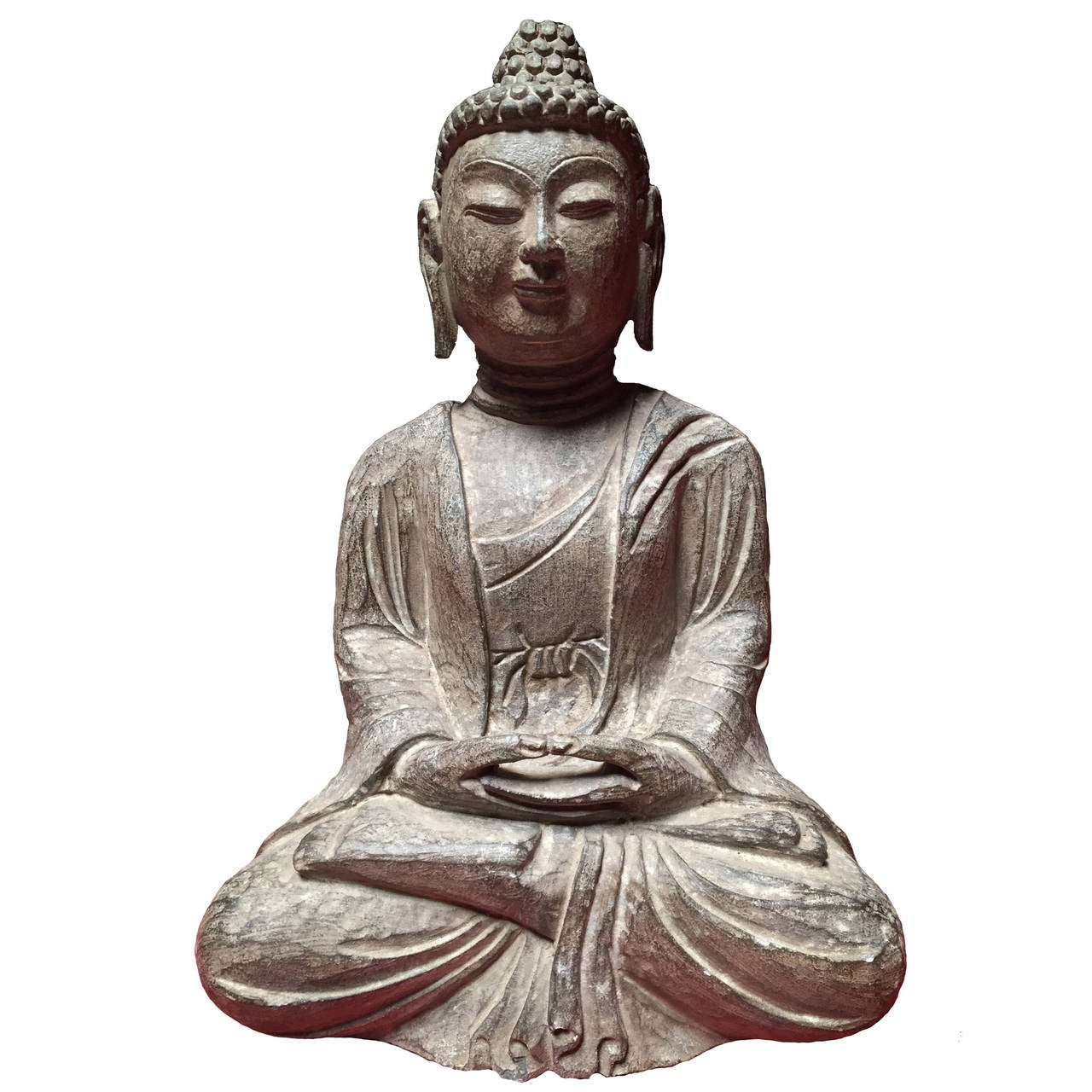 Carved Stone Buddha At 1stdibs