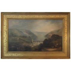 Fine Antique Oil On Canvas of Heidelberg Castle, signed Joseph Clegg