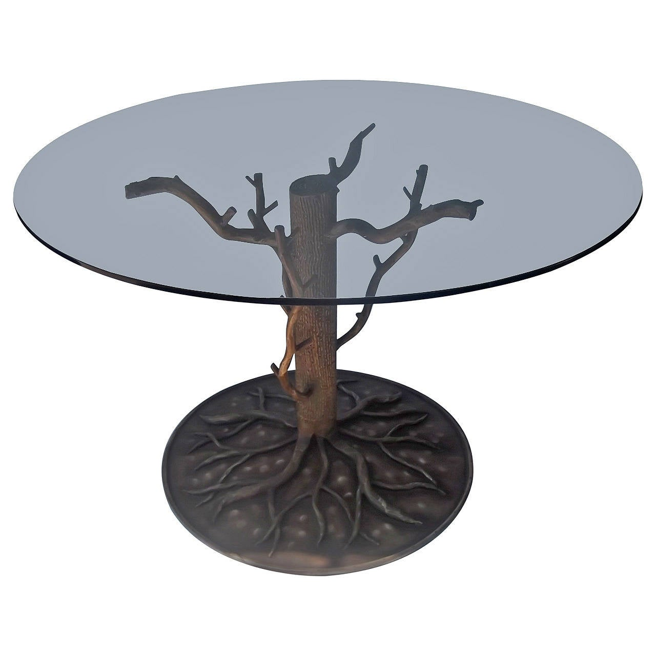 Painted Steel Quot Tree And Branch Quot Center Dining Table For
