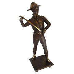 "Signed ""Dubois,"" French Bronze, ""The Harlequin"""