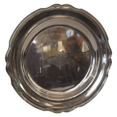 Antique Sterling Silver Round Tray