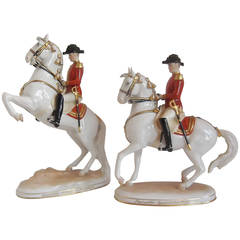 Vienna Augarten Lippizzaner Horse Spanish Riding School Figurines in Porcelain