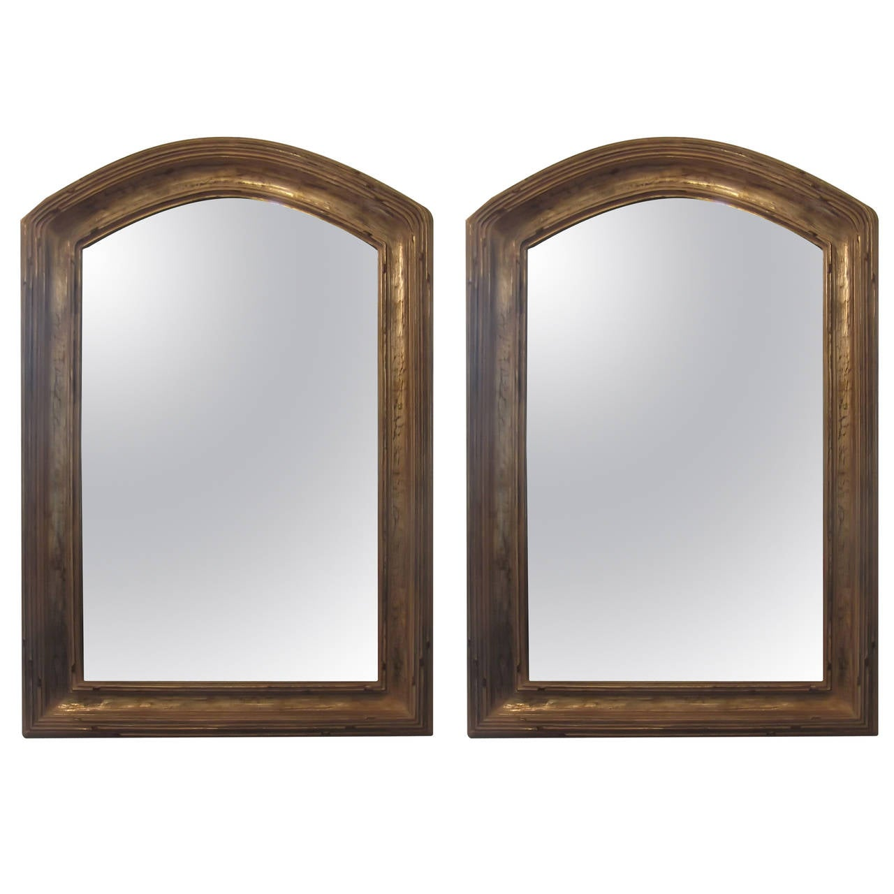 Arched gilt mirror at 1stdibs - Pair Of Giltwood Arched Top Mirrors 1
