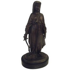 19th Century French Bronze of Judith signed Leon Pilet