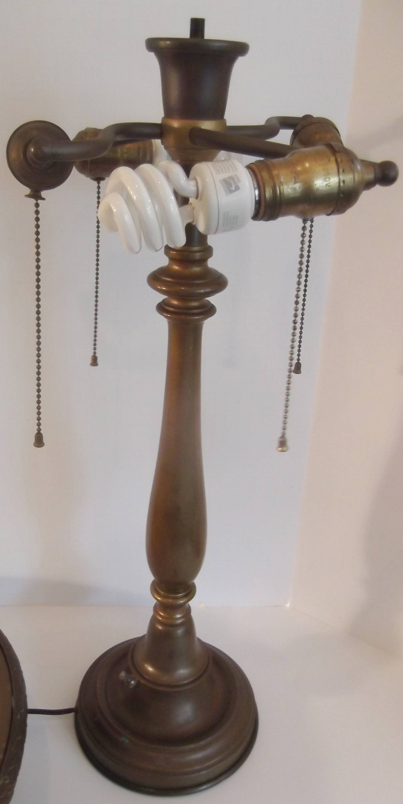 solid brass table lamp circa 1900 1910 at 1stdibs. Black Bedroom Furniture Sets. Home Design Ideas