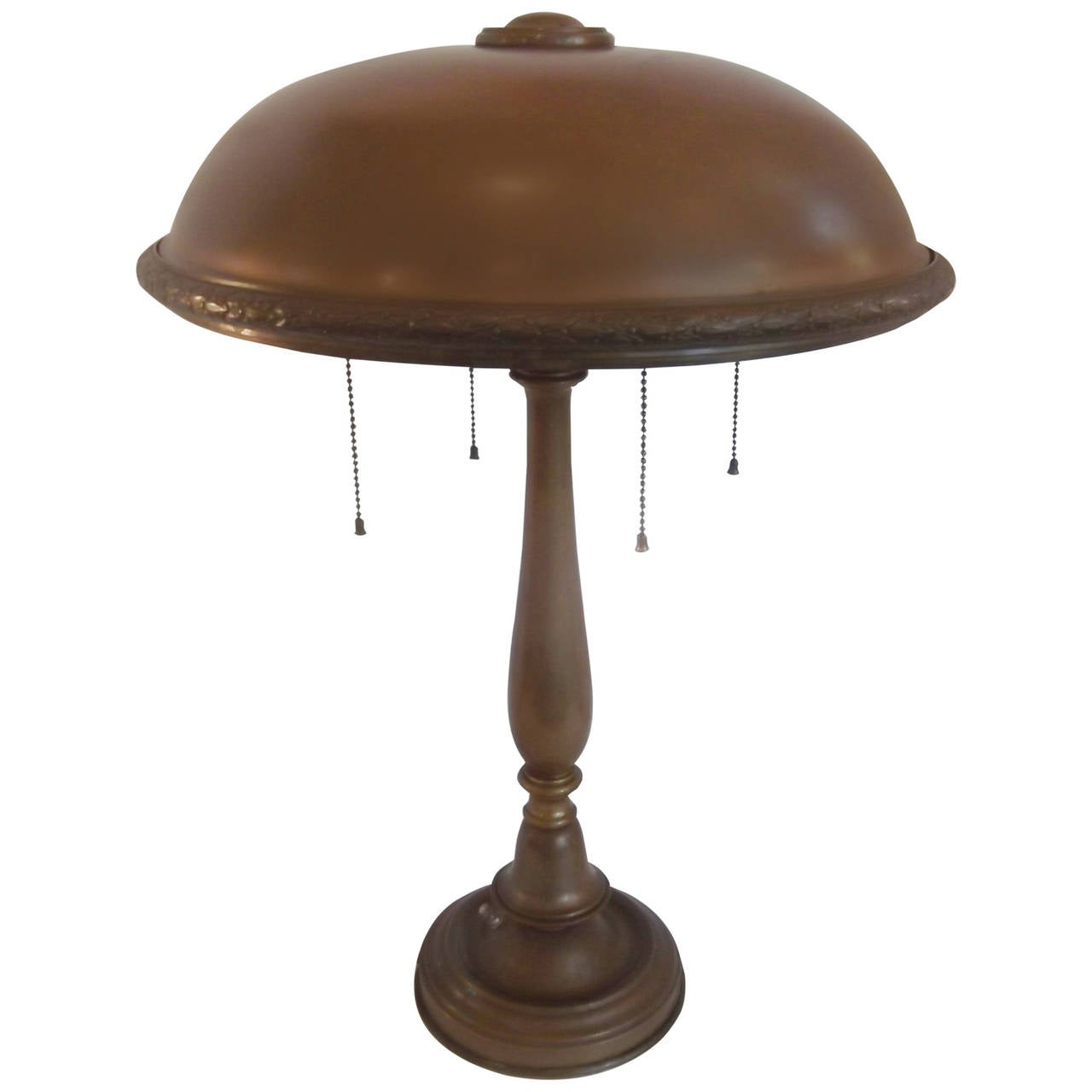 solid brass table lamp circa 1900 1910. Black Bedroom Furniture Sets. Home Design Ideas