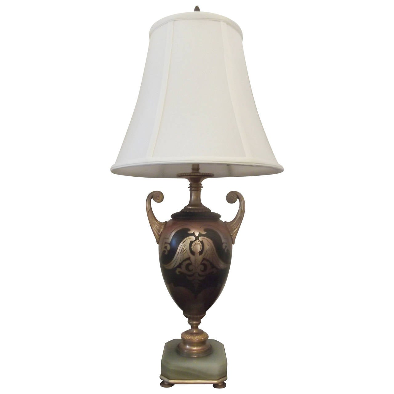 Antique Urn Table Lamp With Onyx Base For Sale At 1stdibs
