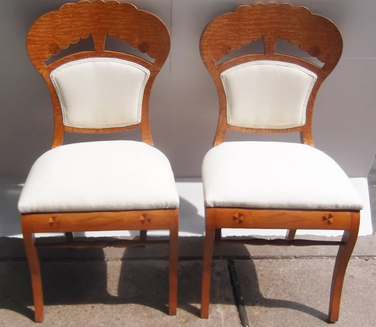 Set of ten biedermeier chairs eight side chairs and two for Dining room head chairs