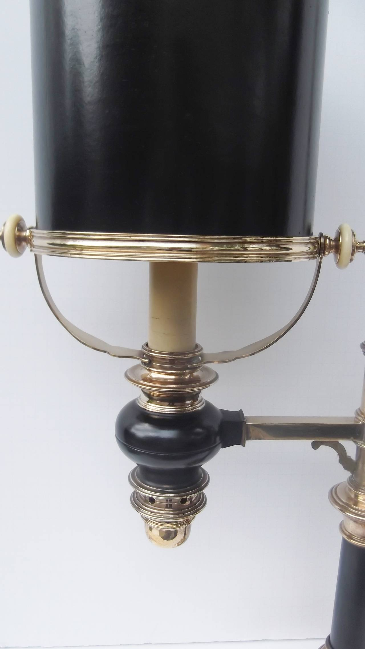 Authentic Brass Chapman Library Table Lamp At 1stdibs