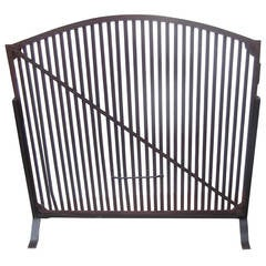 Antique Fire Screen Grate, Mid-19th Century