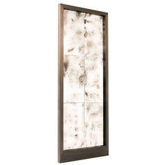 21st Century Large Mirror with Antiqued Mirror and Solid Antiqued Brass Frame