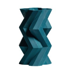 Fortress Tower Vase in Blue by Lara Bohinc