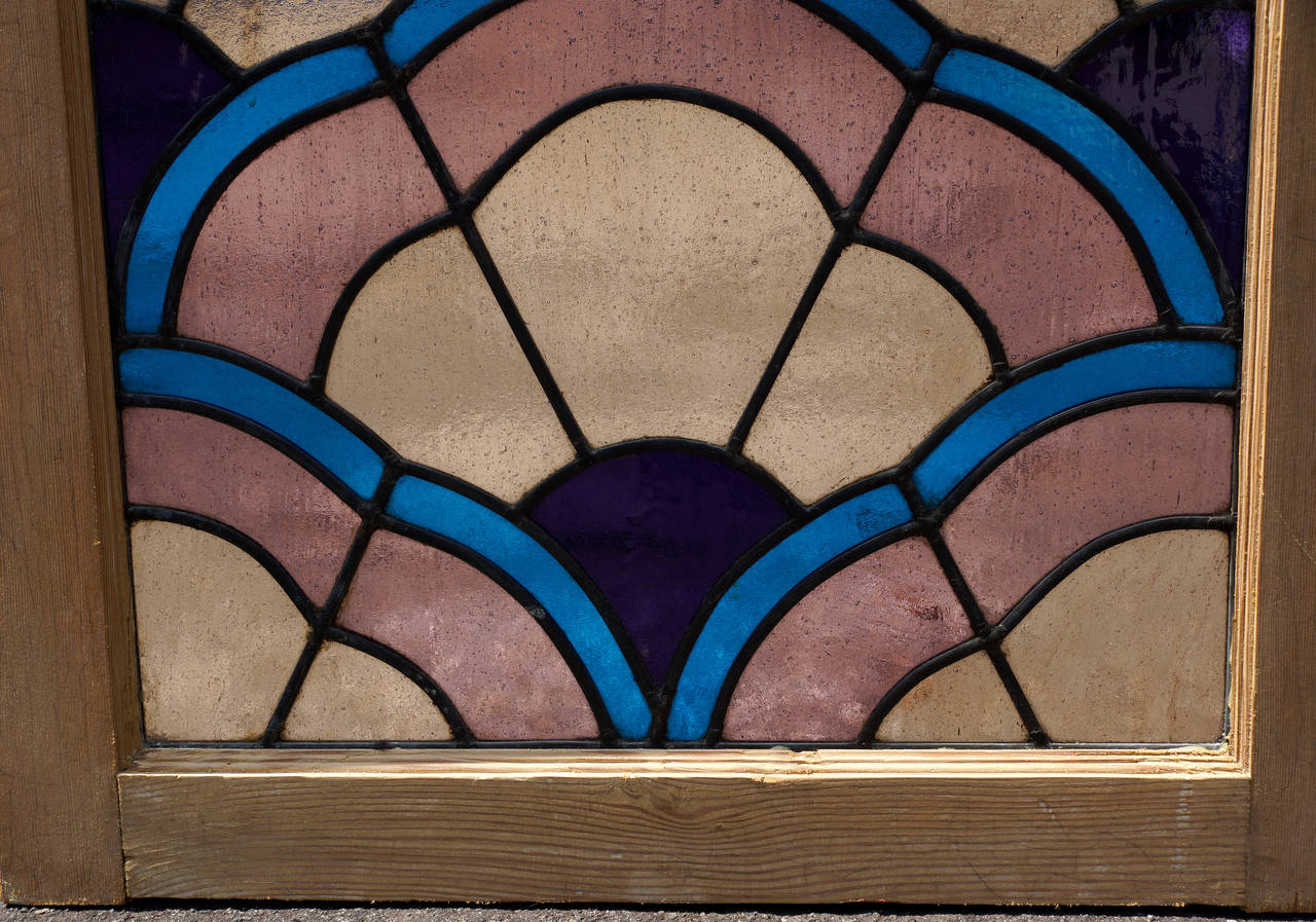 Italian art deco stained glass window image 7 for Art deco glass windows
