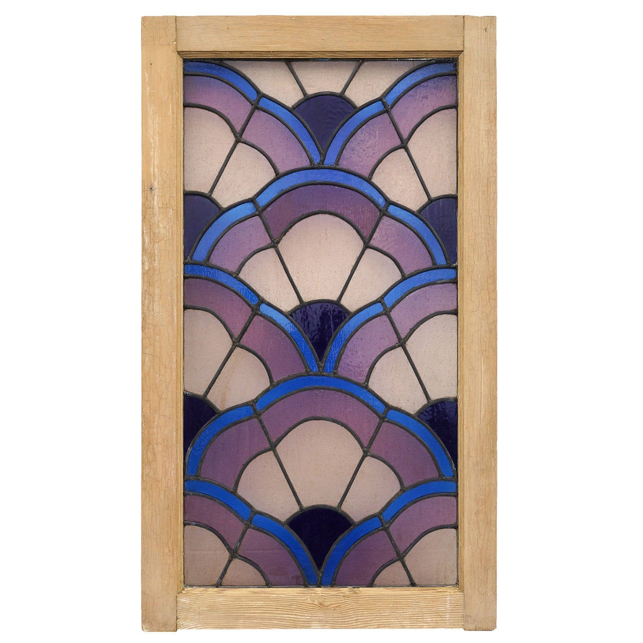 italian art deco stained glass window at 1stdibs. Black Bedroom Furniture Sets. Home Design Ideas